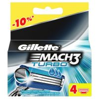 Кассеты для бритья «Gillette» Mach3 Turbo, 4 шт
